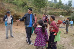 Speaking with the villagers