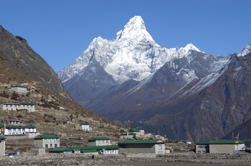 Ama Dablam and Khumjung village