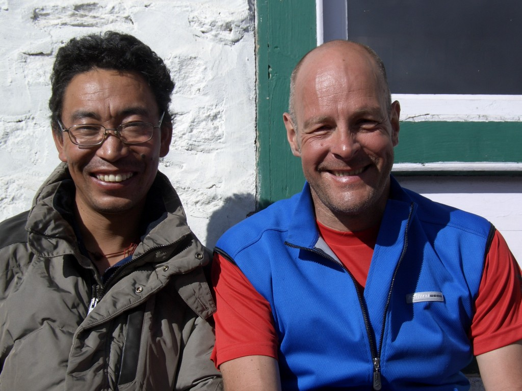 Pema Chossang Sherpa and Andreas after an expedition