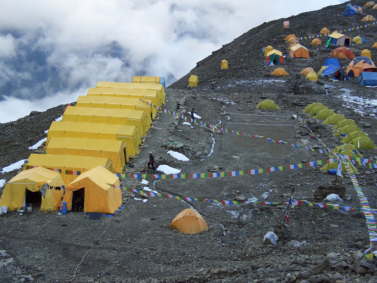 Base camp - Home during the expedition