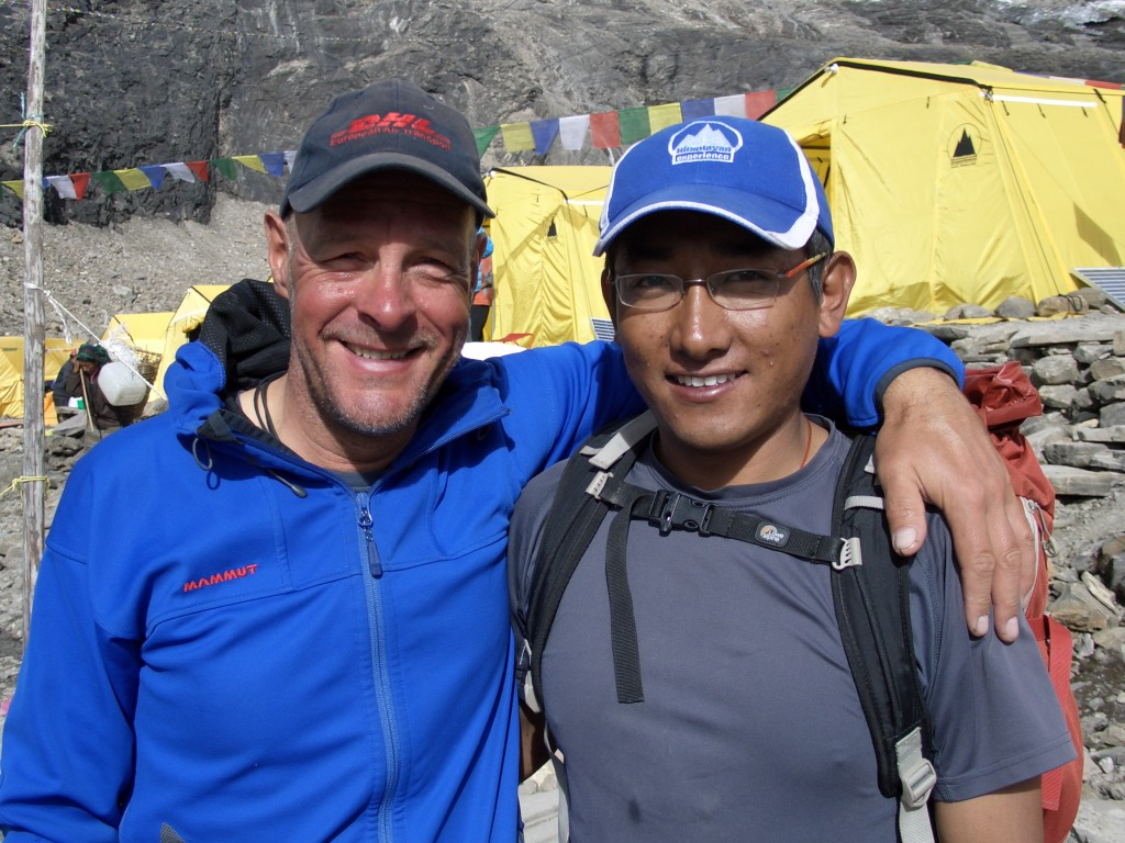 Dr. Nima Sherpa, who became Andreas' good friend during the 2012 Himex Manaslu expedition