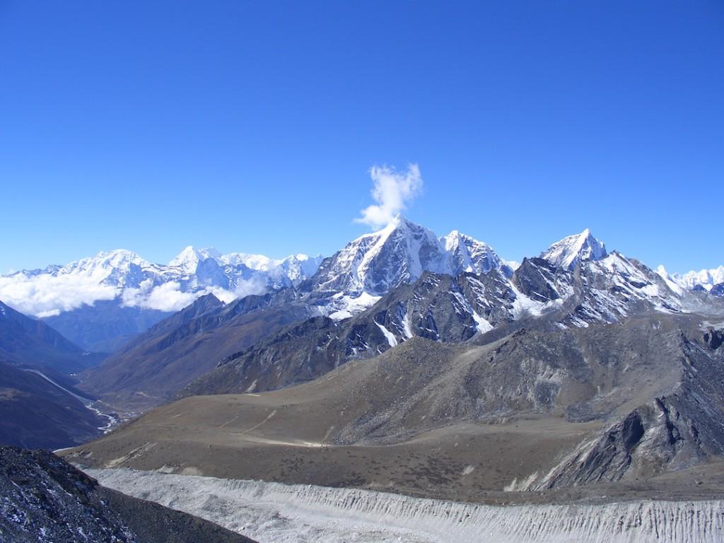 Gipfel im Khumbu Tal