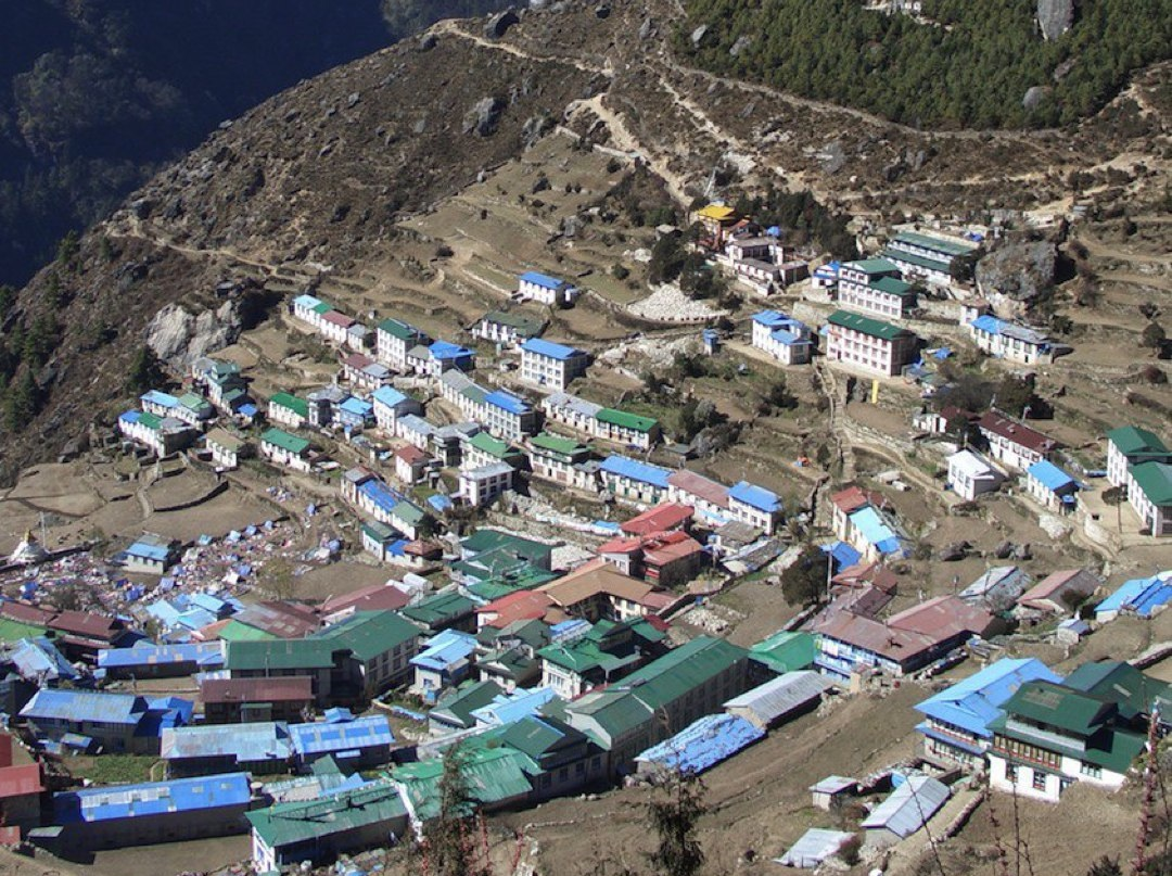 Namche Bazar - Sherpa capital in the Khunbu Valley